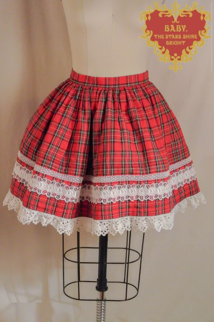 Oldschool plaid skirt